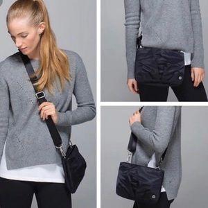 Lululemon Hip To Be Free Black Nylon Crossbody Bag